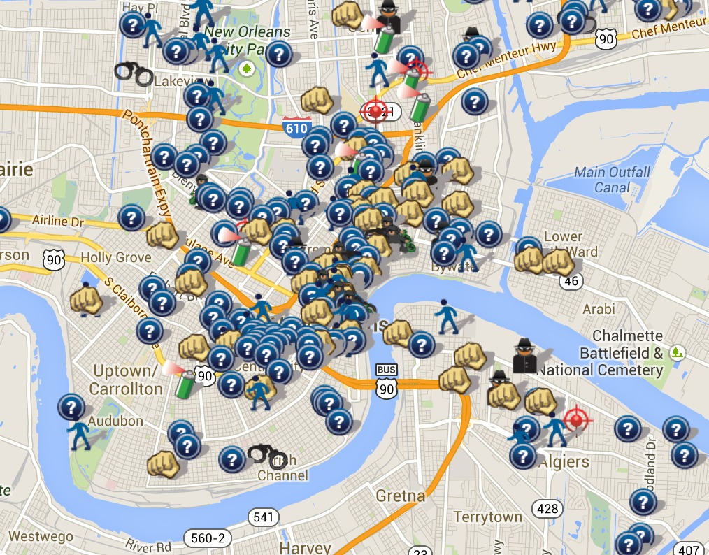 A visualization of crime in New Orleans